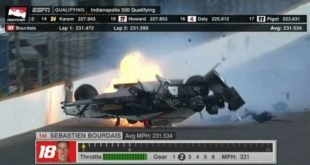 IndyCar News: Terribile incidente per Sebastien Bourdais durante le qualifiche della 500 Miglia di Indianapolis