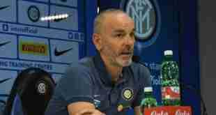 Il tecnico dell'Inter Stefano Pioli in conferenza stampa. (foto: @inter)