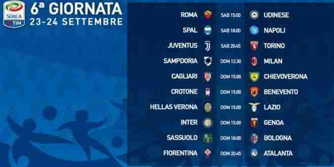 Serie A Calendario 6 Giornata.Presentazione 6 Giornata Di Serie A E Calendario 23 24