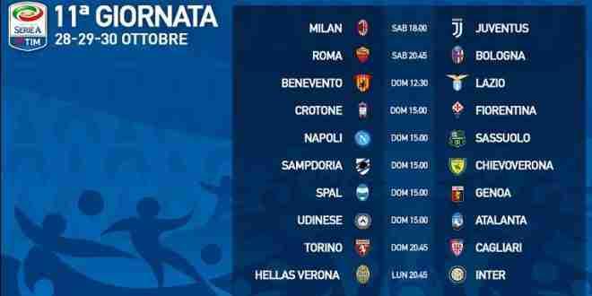 Calendario Serie A 15 Ottobre.Presentazione 11 Giornata Serie A E Calendario 28 29 30