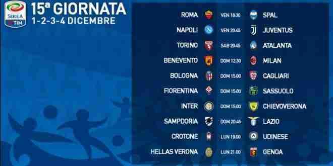 Calendario 15 Giornata Serie A.15 Giornata Serie A Presentazione E Calendario 1 2 3 4