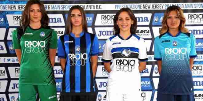 Nuova maglia dell'Atalanta presentata: