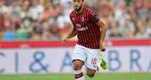 Infortunio pronostico Serie A Milan Calhanoglu